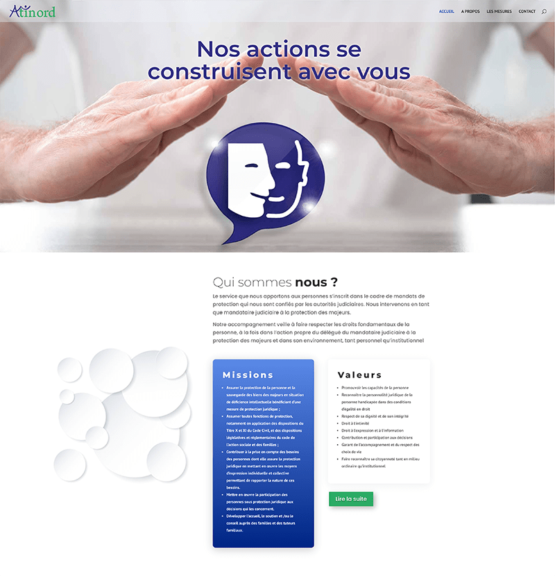 page d'accueil du site Atinord