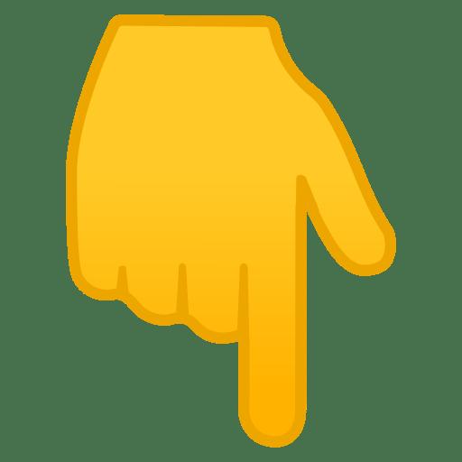 Emoji doit qui pointe vers le bas